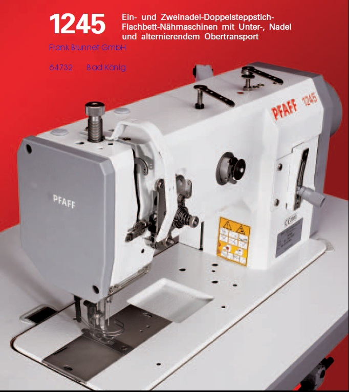 Pfaff Industrial 1245 Ledernähmaschine 220 V Motor
