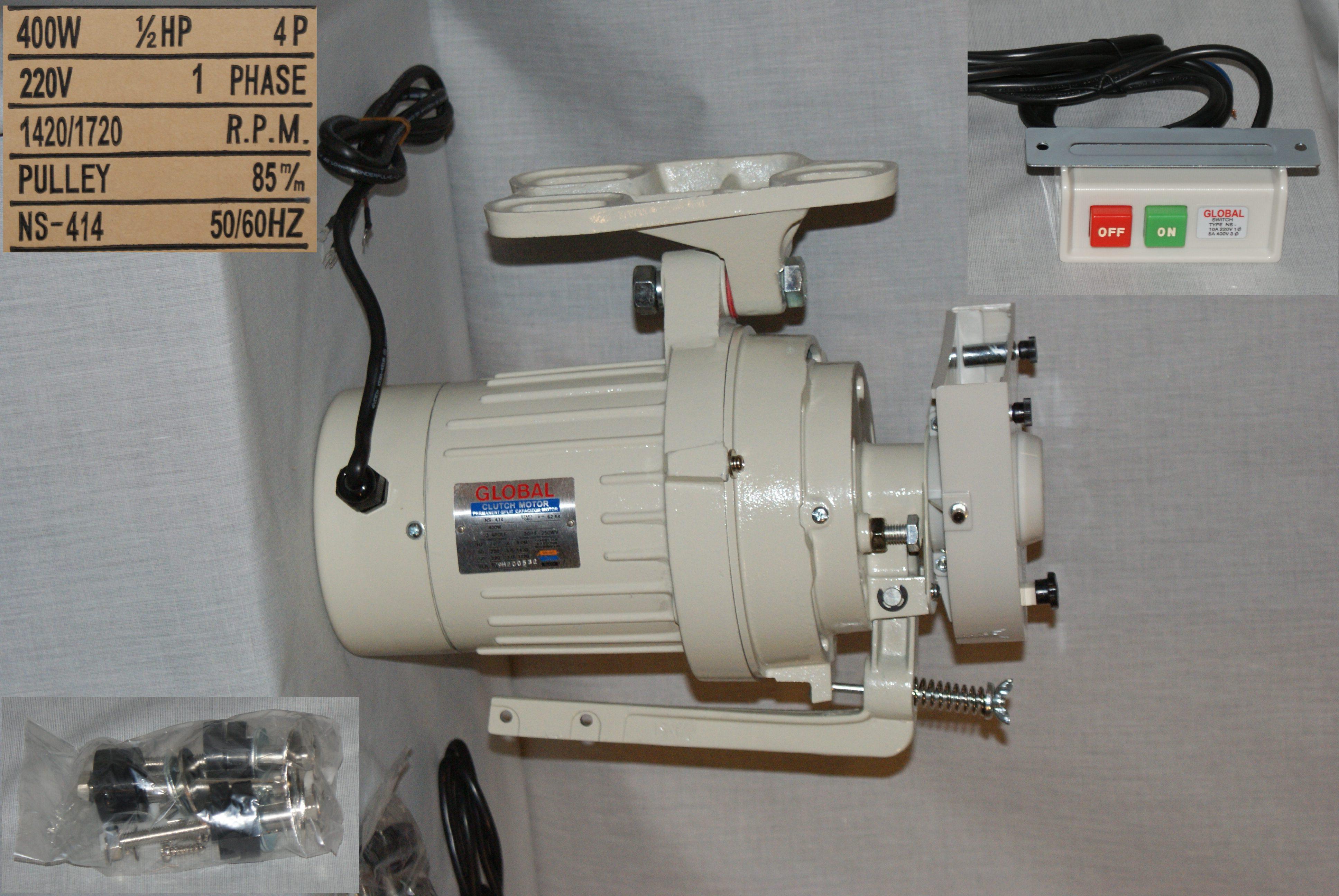 Kupplungsmotor Global für Industriennähmaschine 220  V