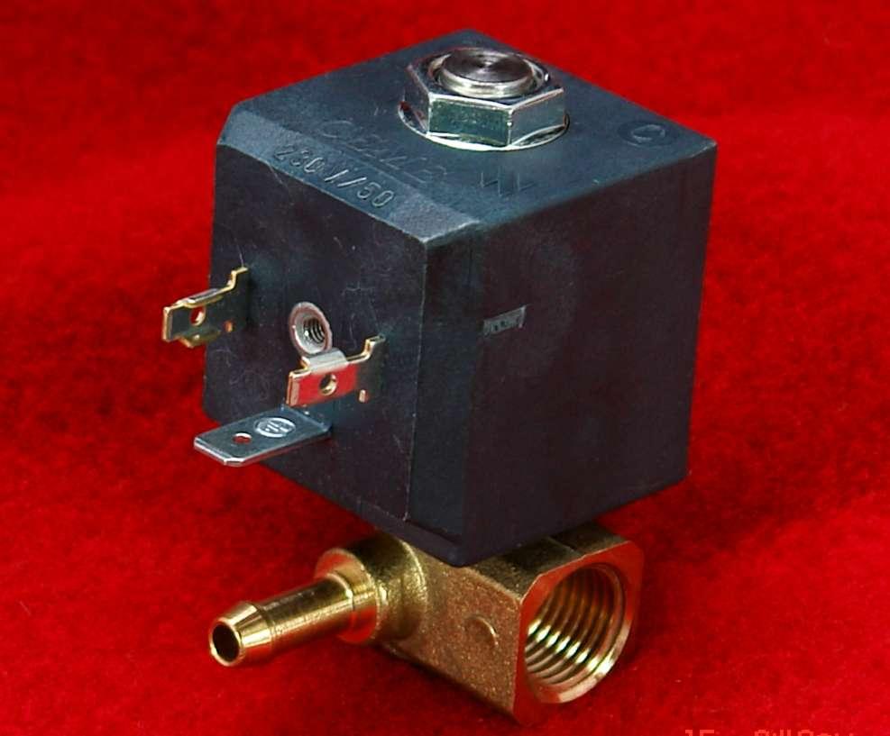 Magnetventil 90° Winkel 220V  Kleindampferzeuger