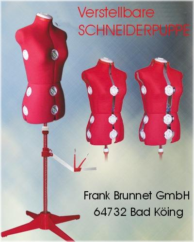 verstellbare Schneiderpuppe / Schneiderbüste  151 rot